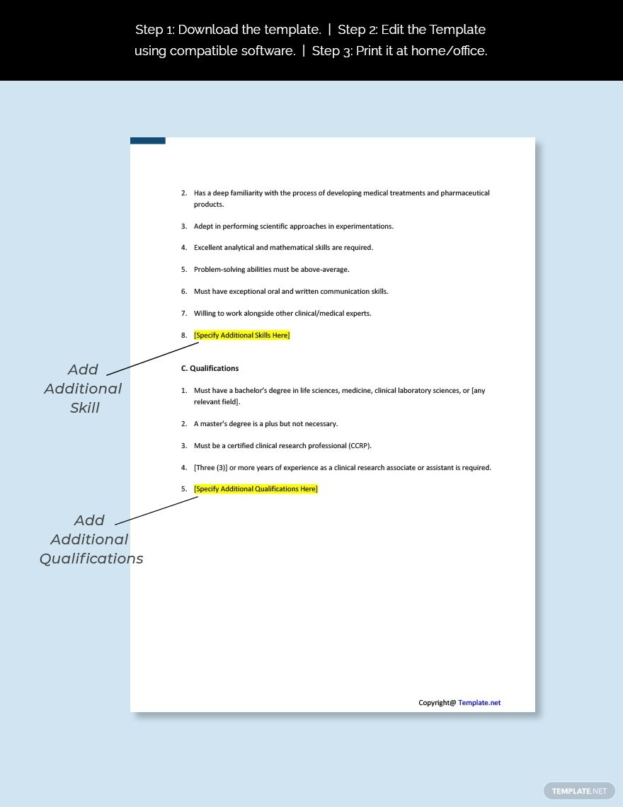 Free Clinical Research Analyst Job Description Template