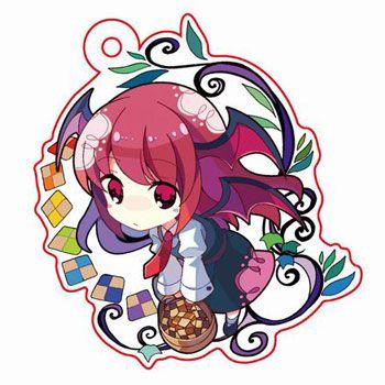 amiami character hobby shop touhou nami no amamiya acrylic keychain koumakan de ochakai hen koakuma pre order 東方 かわいい カワイイアート アニメチビ