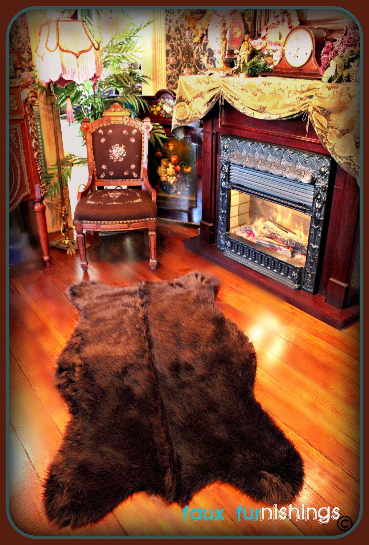 Bear Skin Pelt Rug Faux Fur Grizzly Bear Polar Bear Teddy Bear Area Rug All New Colors And Sizes Bear Rug Pelt Rugs Bear Area Rug