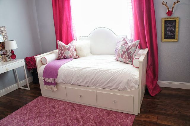Ikea Hack Upholstered Headboard For The Hemnes Day Bed Ikea Hemnes Daybed Bedroom Design Daybed Room