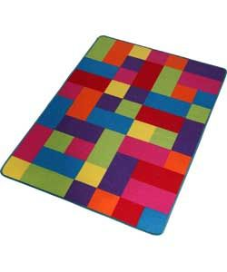Colour Match Kids Large Block Rug