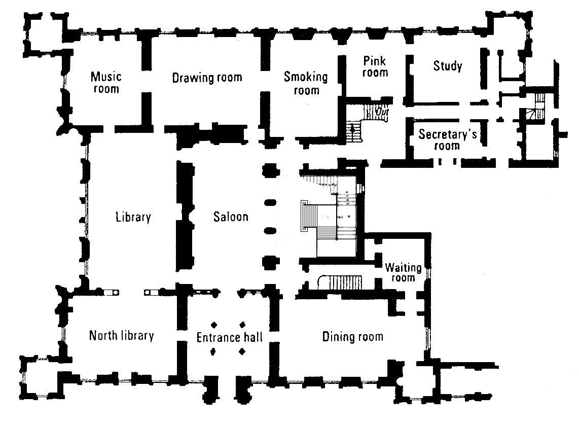 Highclere castle floor plan the real downton abbey for Castle blueprints and plans