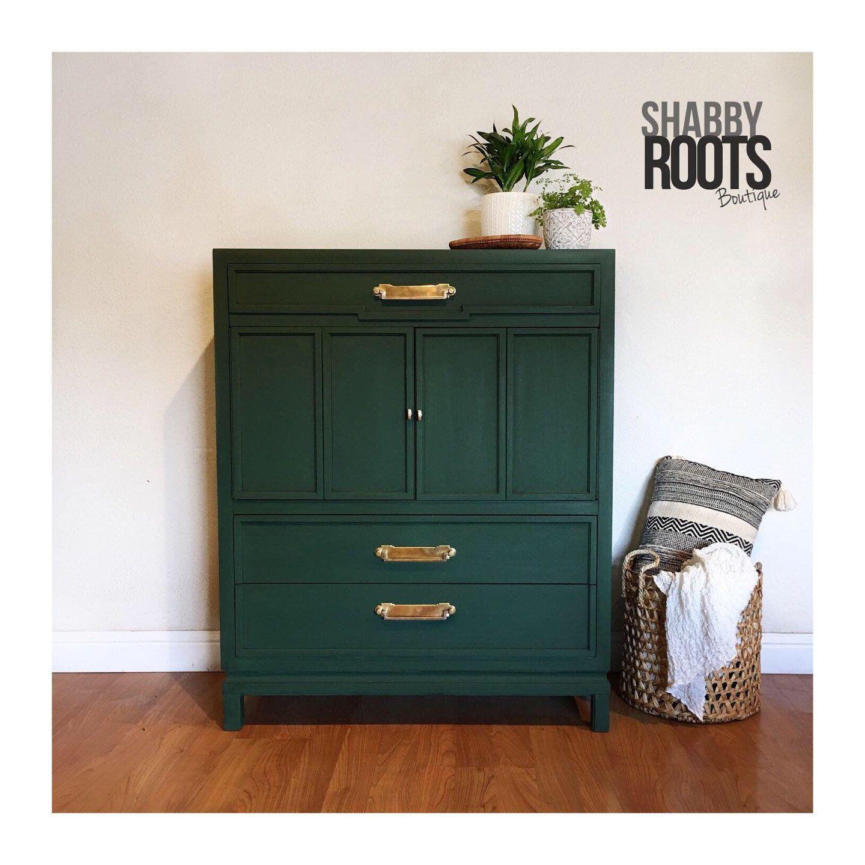 Best New Dark Emerald Green Vintage Mid Century Modern Tall 400 x 300