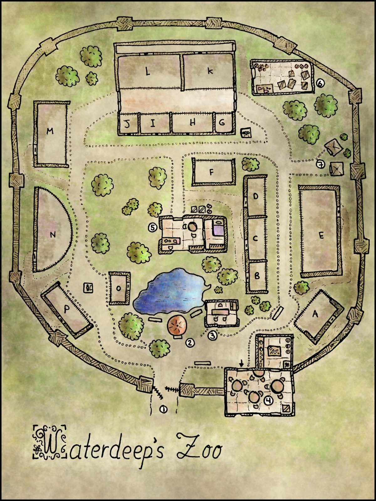 Floor Plan Zoo Layout Design  Zoo map, Map layout, Dungeon maps