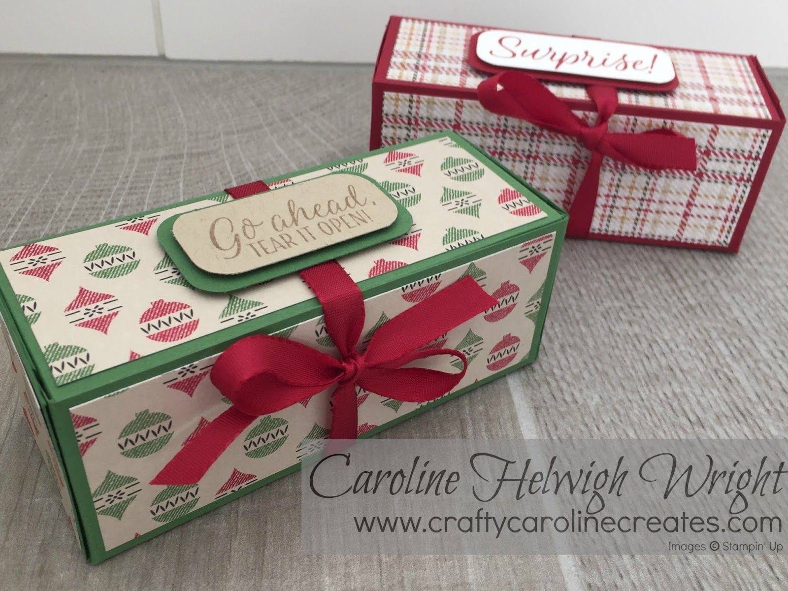 large useful christmas gift box with warmth and cheer by stampin up thank you for - Large Christmas Gift Boxes
