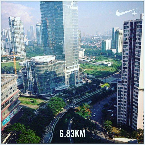 Good morning! #nikeplus #myrun #running #morning #morningrun #bonjour #instarunning #instarunner #jakarta #rasunasaid  #indonesia