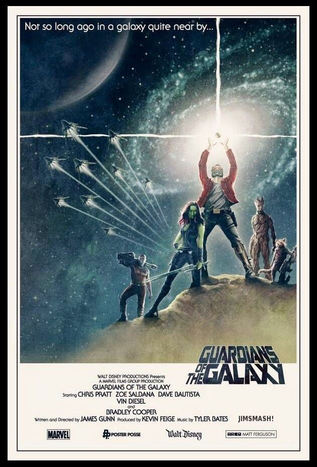 Jimsmash Star Wars Homage Guardians Of The Galaxy Poster Fan Art Galaxy Poster Guardians Of The Galaxy Marvel