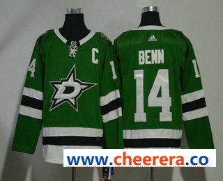 3093469926f Men s Dallas Stars  14 Jamie Benn Green With C Patch 2017-2018 Hockey  Stitched NHL Jersey