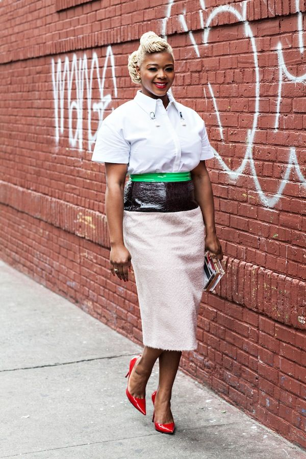 3 Claire sulmers mother of pearl Amor embellished-collar shirt ROKSANDA ILINCIC lamont contrast panel skirt fashion bomb daily