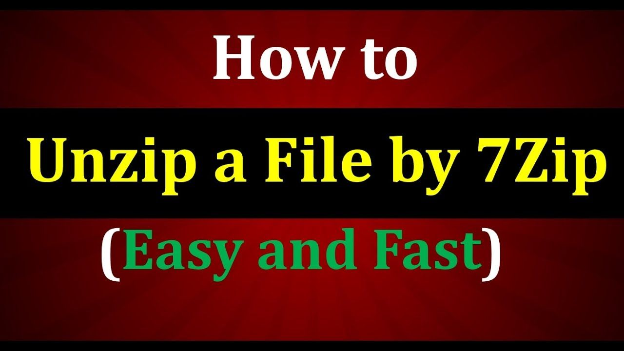 How to Unzip a file using 7zip? Learn in this video How to