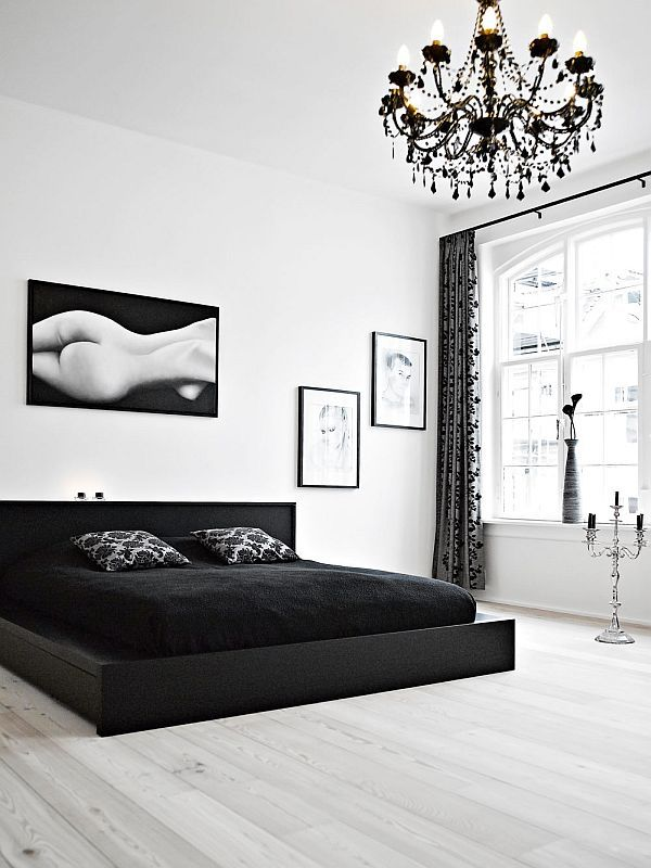 Elegant Black And White Interior Duplex
