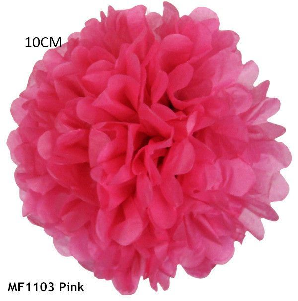 34 Colors 4inch 10cm Small Size Tissue Paper Pom Pom Flower Rose