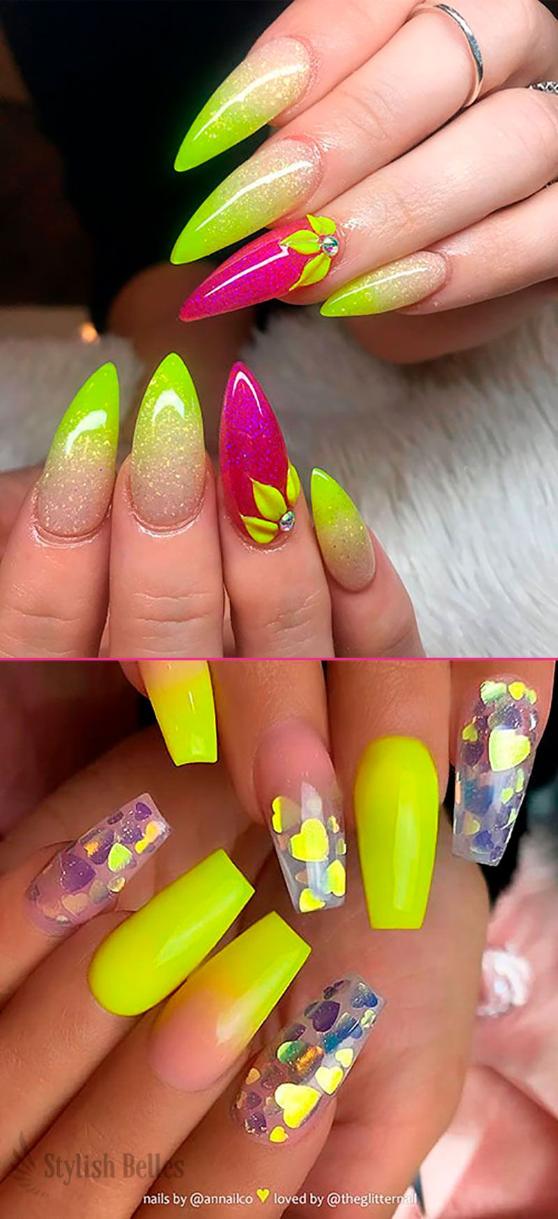 Best Nails For Summer 2019 Shiny Nails Designs Neon Nails Neon