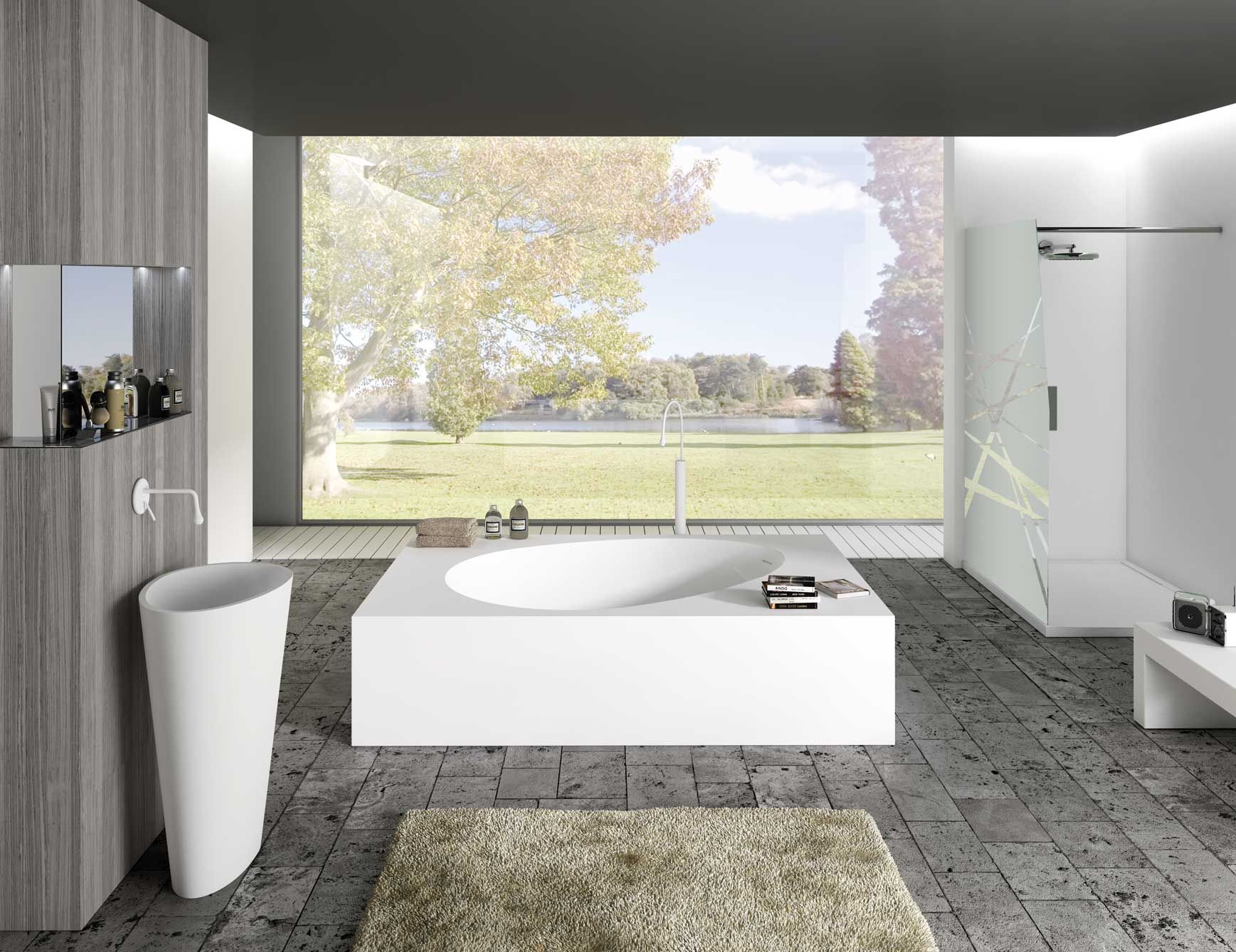 Modern Italian bathtub inspired by egg shape. Bathtub made from a ...