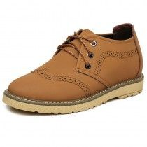 breathable elevated brogue shoes height increasin 7cm / 2