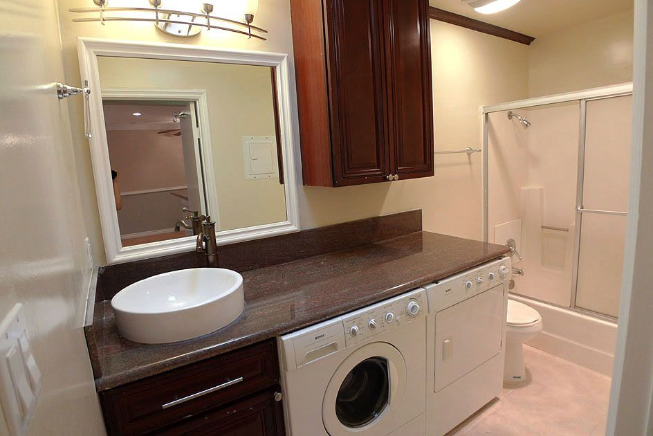 Bathroom Idea With Washer Dryer Under Counter Space Bathroom Ideas Pinterest Bathroom