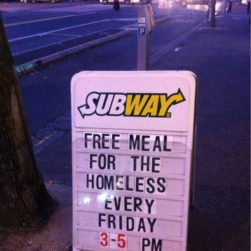 Subway for the Homeless