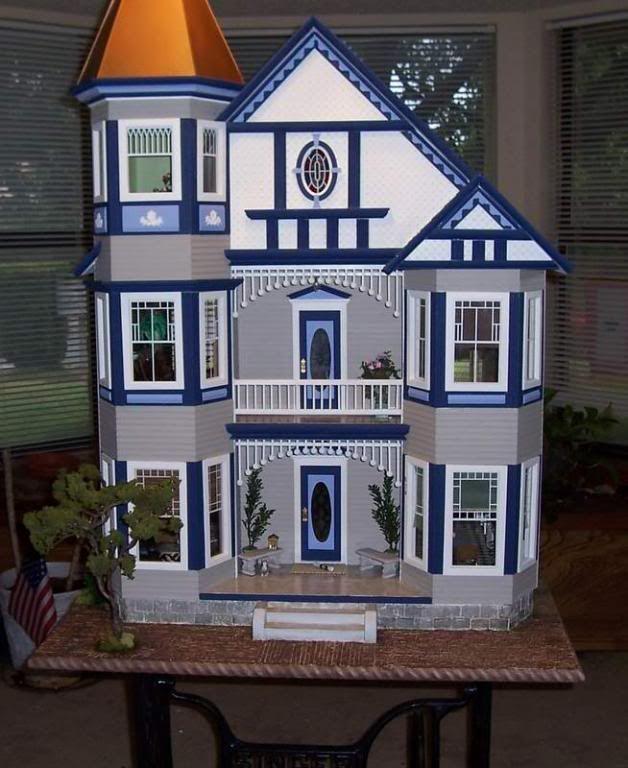 Dollhouse Miniatures Texas: Painted Lady Dollhouse Kit By Real Good Toys