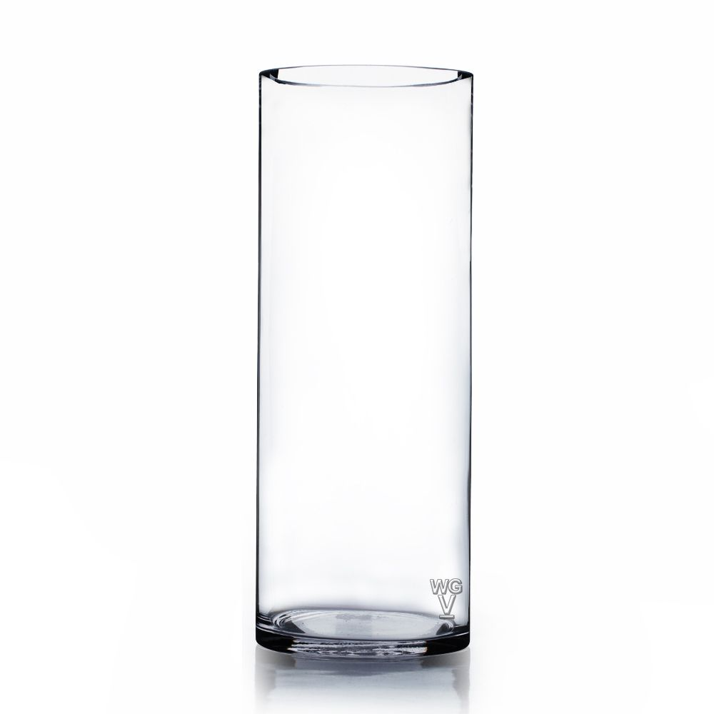 Cylinder Clear Glass Vase 4 Inches By 12 Vases With Images