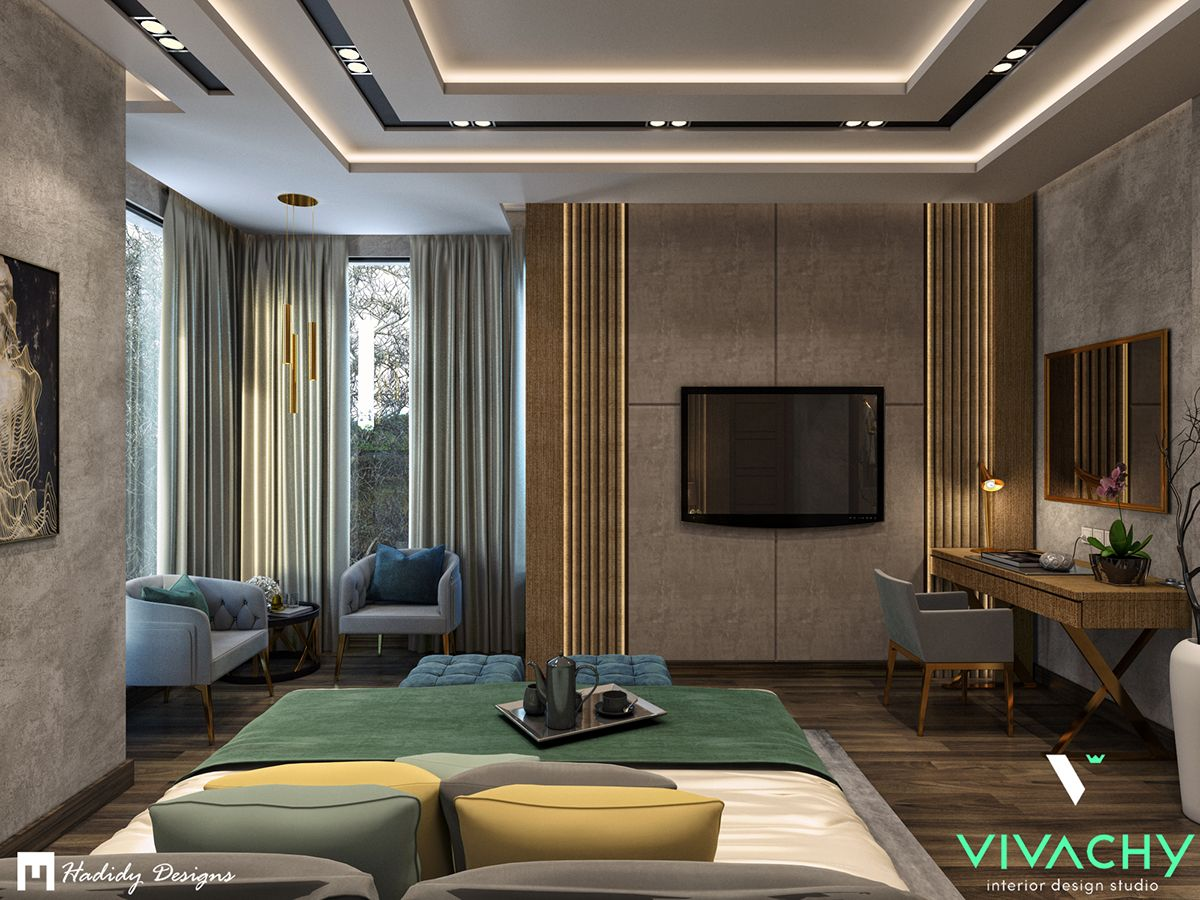 Modern Contemporary Bedroom in Cairo on Behance in 2020 ...