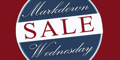 Shop Markdown Wednesday