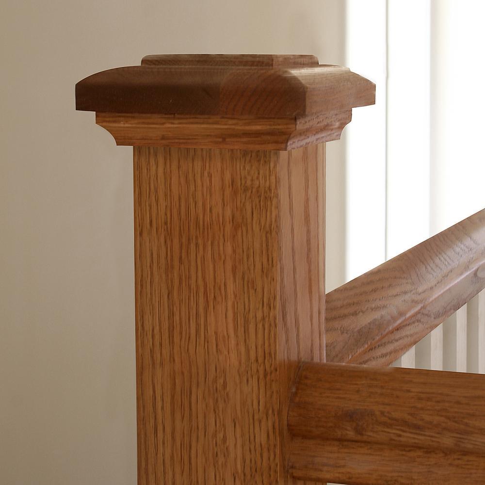 Best Stair Parts Nc 77 White Oak Radius Newel Cap Kit 9804W 000 400 x 300