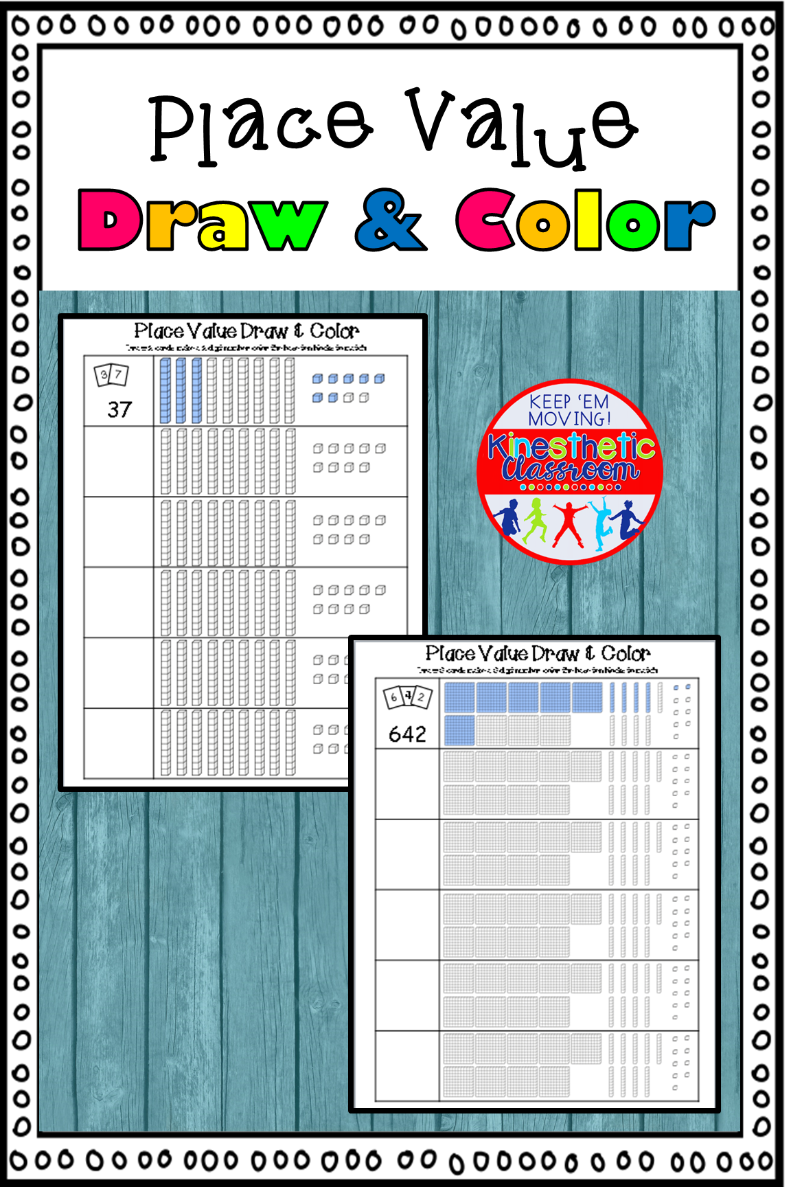 Place Value Activity Draw And Color Base Ten Blocks