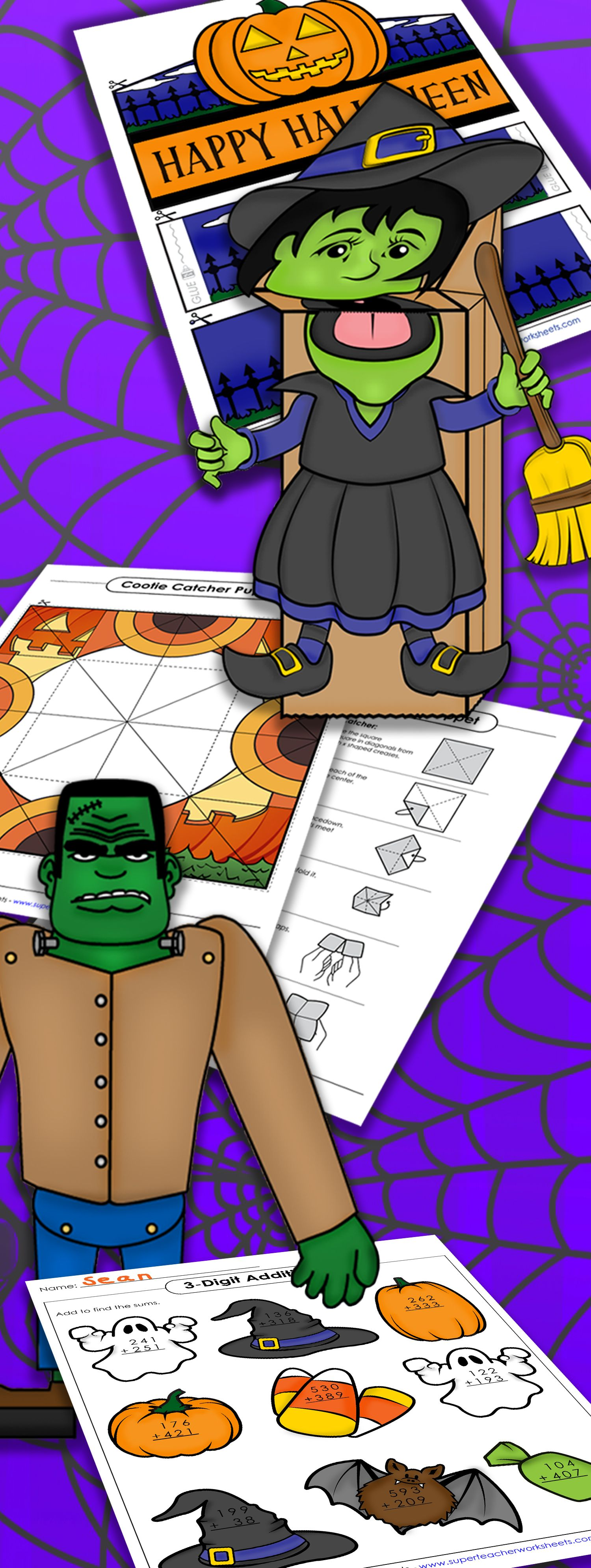 Print Out Spooky And Silly Halloween Activities From