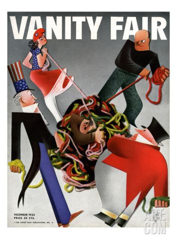 Vanity Fair Cover - December 1933 Regular Giclee Print by Garretto at Art.com