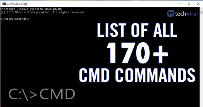Here is a list of the most used commands in the CMD window or prompt  commands that you can type to perform certain task… | Cmd commands, Batch  file, Computer basics
