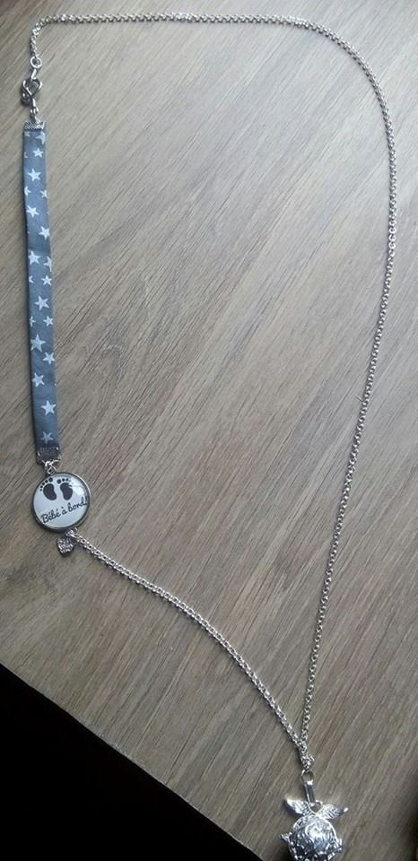 collier bola de grossesse cage toil e collier par. Black Bedroom Furniture Sets. Home Design Ideas