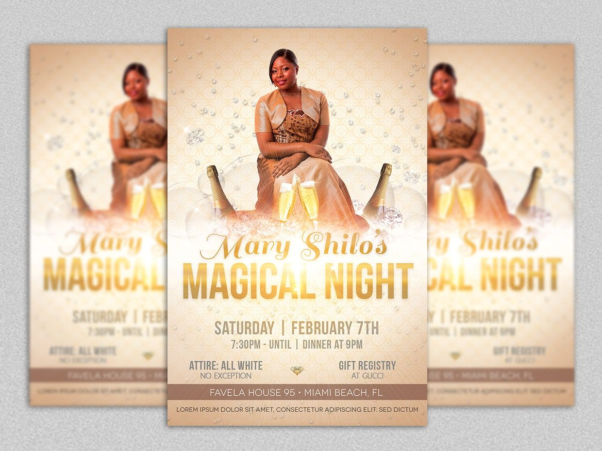 Magical Birthday Party Flyer Template  Party Flyer Psd Templates
