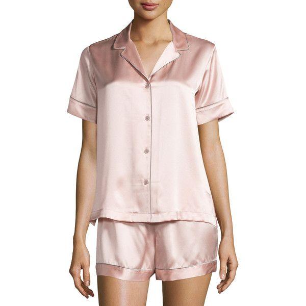 b6a986819c9 Natori Jasmine Shorty Pajama Set ( 200) ❤ liked on Polyvore featuring  intimates