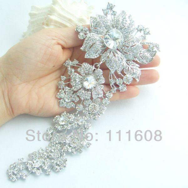 73 Bridesmaid Jewelry Bouquet Bridal wedding Rhinestone Crystal