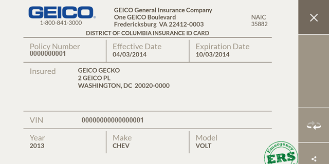 car insurance card template free