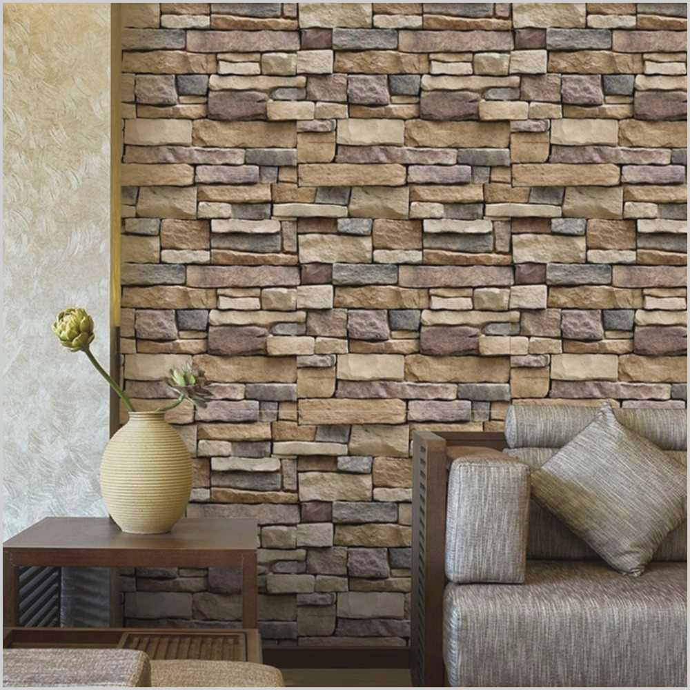Adhesive Back White Brick Living Room Wallpaper In 2020