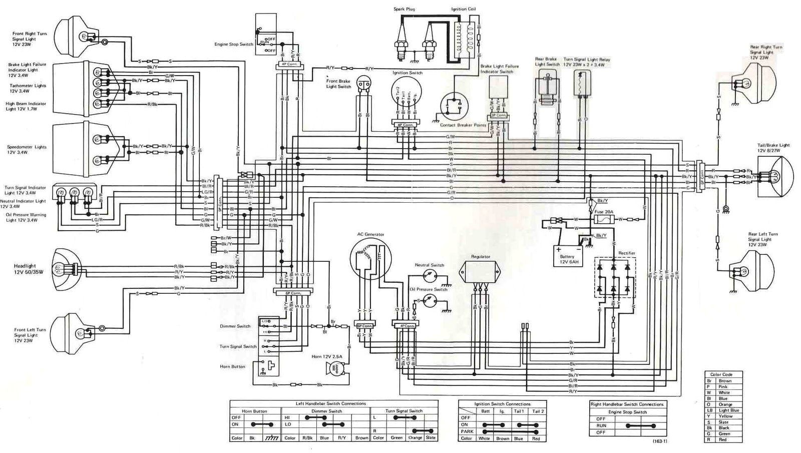 k z 400 wiring diagram easy rules of wiring diagram u2022 rh lushpuppy co  1975 KZ400 KZ400 Bobber