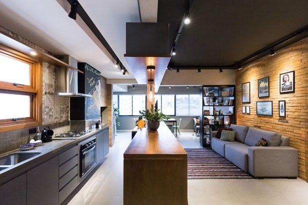 Apartamento de 45 m² reflete o estilo urbano do jovem morador - decoracion de apartamentos pequeos