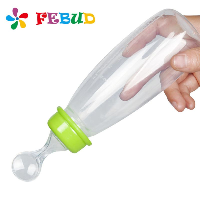 Baby Squeeze Spoon Feeding Bottle Rice Paste Bottle Supplement Bottle 240ml TO