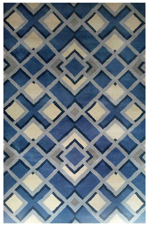 Best Beautiful Indigo Diamond Beautiful Handtufted Modern 640 x 480