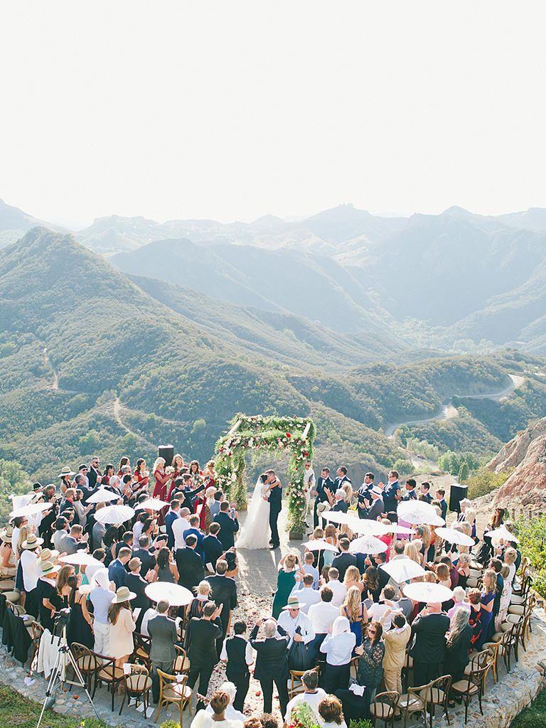 24 Most Beautiful Mountainside Wedding Locations In America Wedding Locations California Malibu Beach Wedding Wedding Locations
