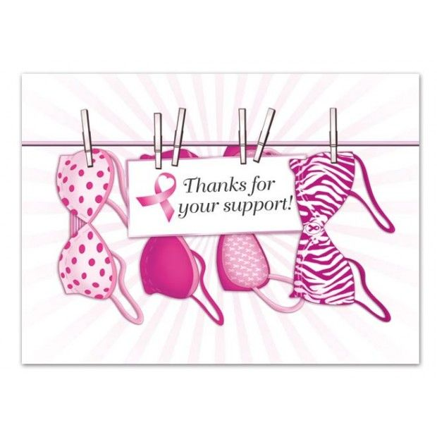 Dz. Pink Ribbon Thank You cards (12 pcs) | Warriors in Pink