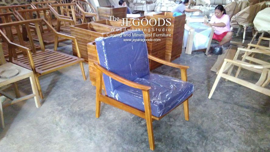 Seating Chair Retro Scandinavian Furniture Jepara Goods Woodworking Indonesia Teak Manufacturer Mebel