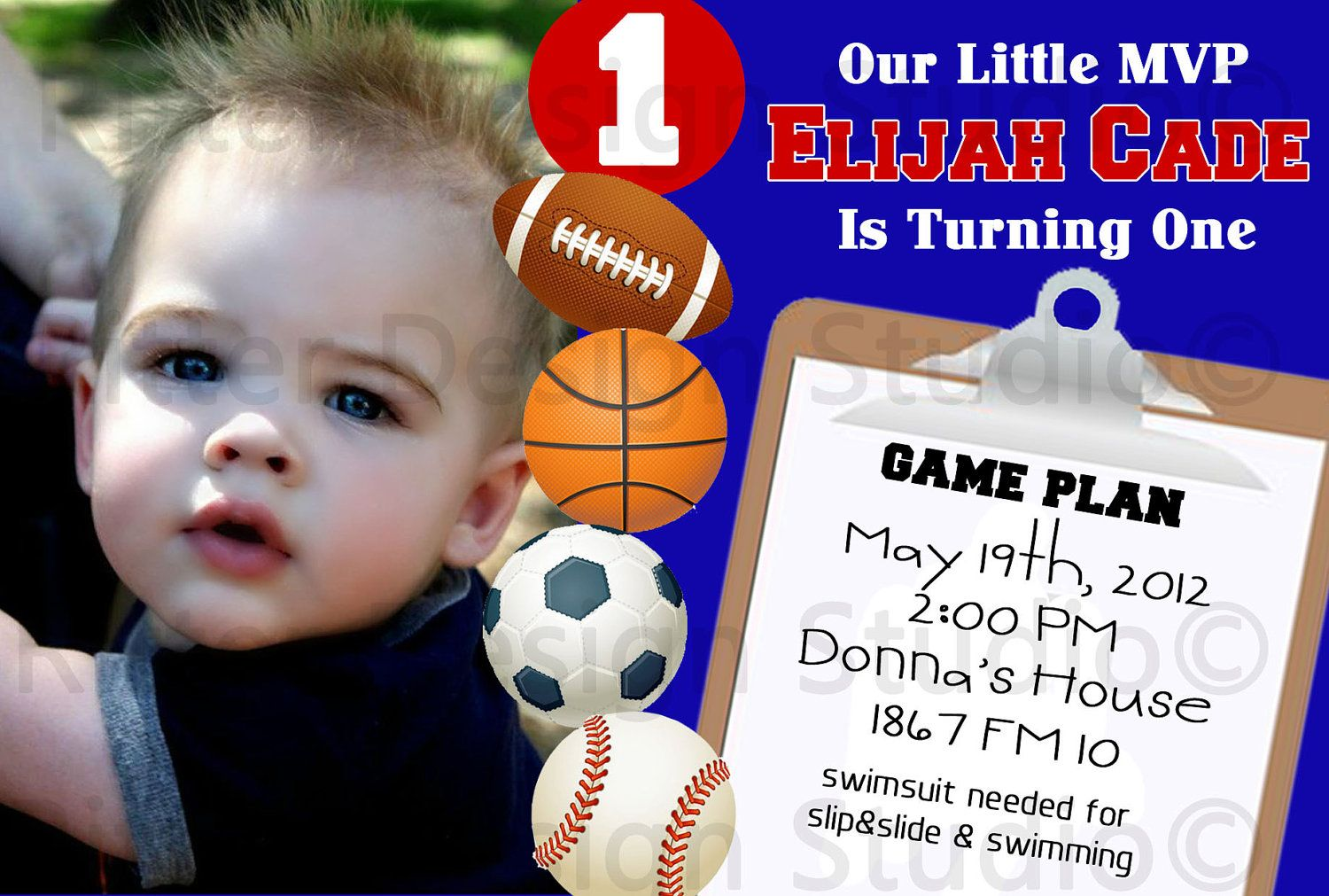 1000 images about Sports themed Bday – Sports Themed Birthday Invitations