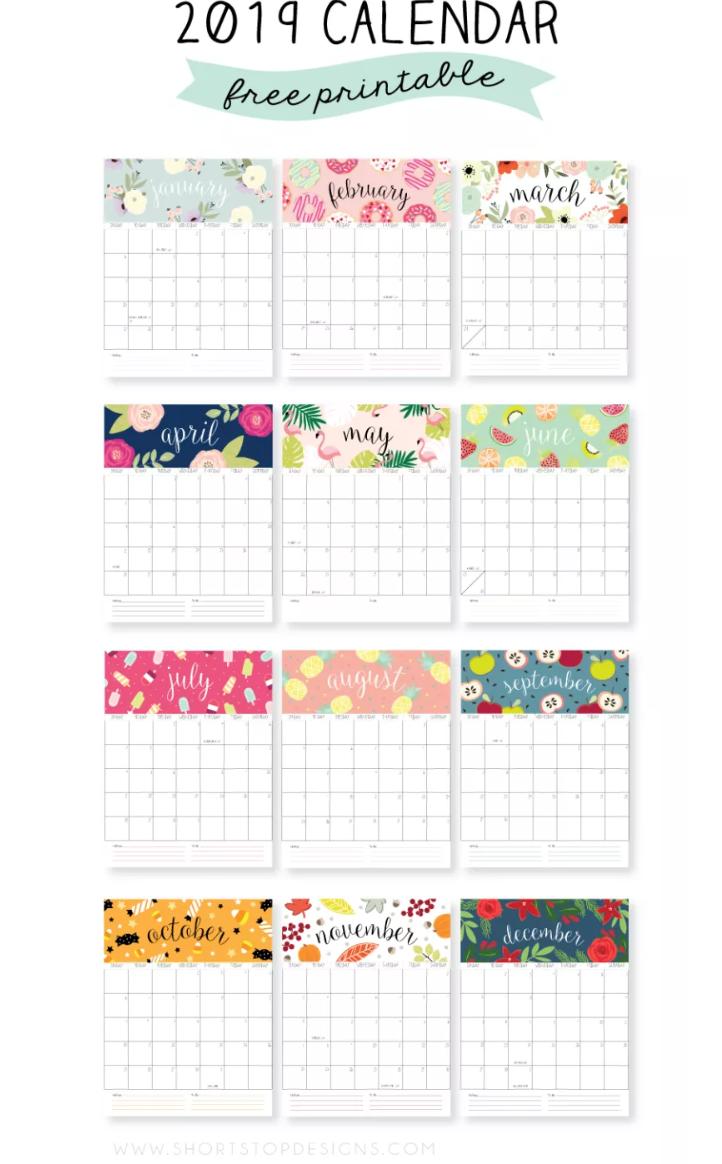 Free Printable 2019 Calendars Create Home Storage Printable Wall Calendar Free Calendar Template Calendar 2019 Printable