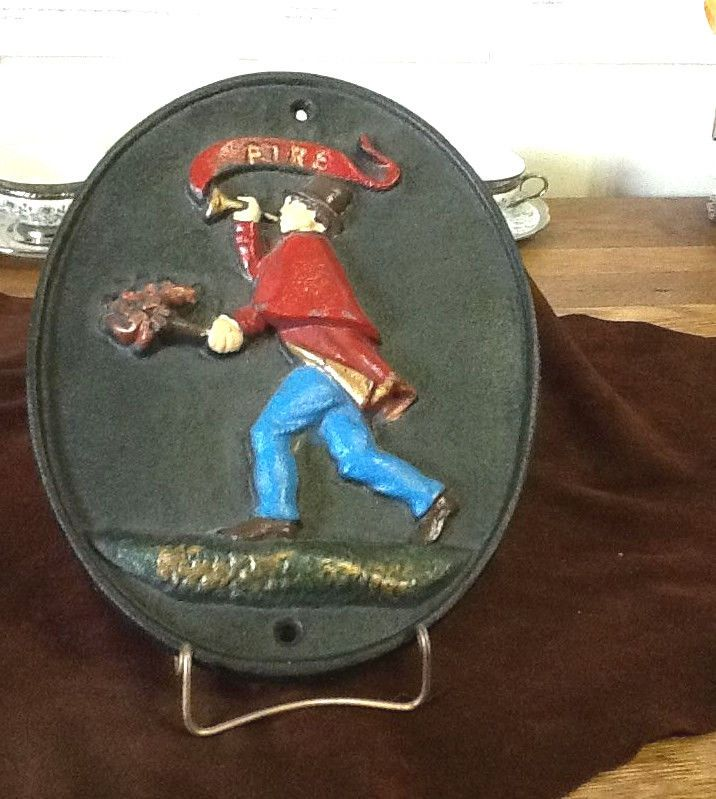 REPRODUCTION FIREMAN INSURANCE PLAQUE HEAVY CAST IRON
