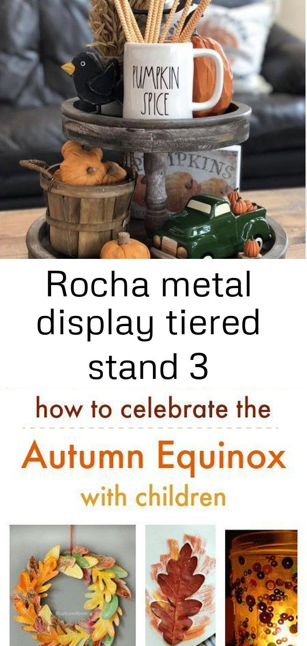 Rocha metal display tiered stand 3 #autumnalequinox