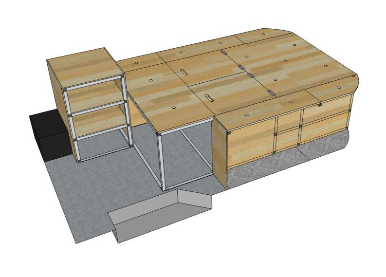 Google Sketchup Is An Excellent Tool To Create Scale Designs Of Your Camper Conversion We