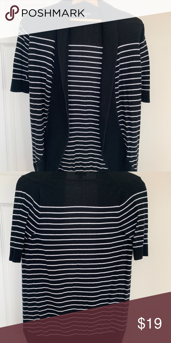 249b6a44b3705 Express Sweater Express black and white striped sweater Express Sweaters  Cardigans