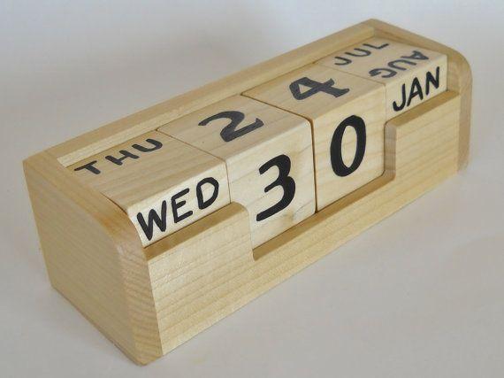Perpetual Calendar Elite Office Desk Counter by 2HeartsDesire